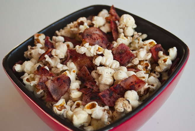 Proper Bacon Popcorn With Bacon And Everything!